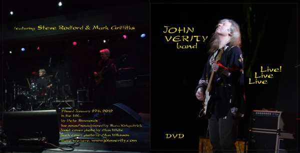 John Verity Band - Live Live Live! DVD