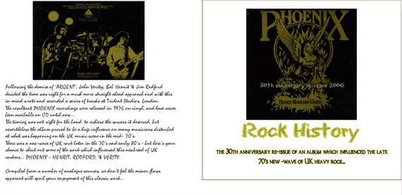 PHOENIX - 30th anniversary re-issue CD - Buy online - NOW!